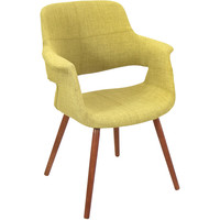 Vintage Flair Accent Chair, Walnut/Green