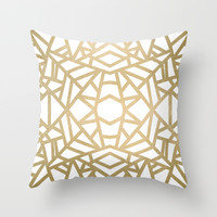 Gold Sun Throw Pillow by Elisabeth Fredriksson
