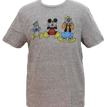 Disney Men's Mickey Mouse And Pals See No Evil Graphic T-Shirt