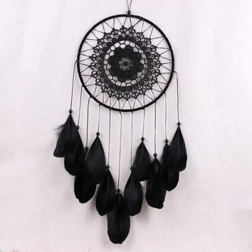Hot Decoration Crafts Dreamcatcher Wind Chimes Handmade Dream Catcher with Feathers Wall Hanging