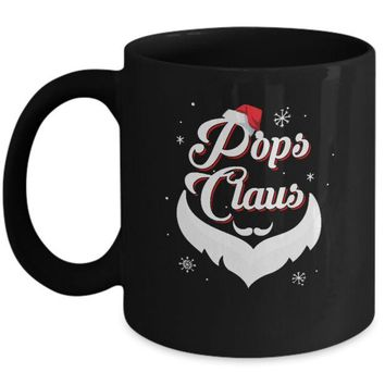 DCKIJ3 Santa Beard Matching Christmas Pajamas Pops Claus Mug