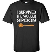 I Survived The Wooden Spoon Funny Wooden Spoon Survivor Gift - Unisex Tshirt