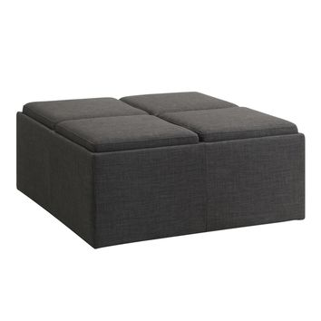 Montrose Dark Grey Storage Cocktail Ottoman by iNSPIRE Q Bold | Overstock.com Shopping - The Best Deals on Ottomans