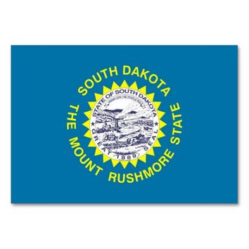Patriotic table card with Flag of South Dakota