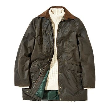 Women's Baltray Waxed Cotton Jacket in Olive by Dubarry of Ireland
