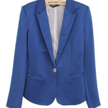 Single Button Tailored Blazer