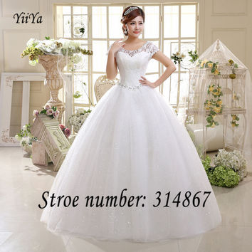 Free Shipping White or Red Cheap Lace Wedding Dress Princess Wedding Frocks Lace up Fashion Vestidos De Novia Ball gown HS587
