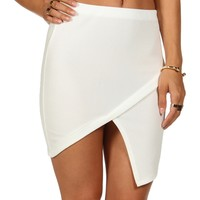 Sale-ivory Asymmetrical Envelope Skirt