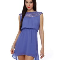Sweet Blue Dress - Loopy Dress - High-Low Hem Dress - $45.00