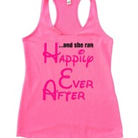 ... And She Ran Happily Ever After Womens Workout Tank Top