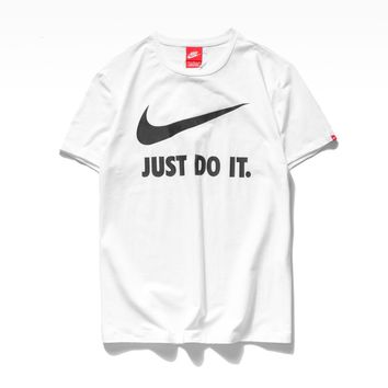 hcxx 19June 183 Nike Round-collar Just Do It Sports Loose T-shirt