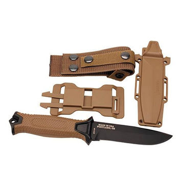 Gerber StrongArm Fixed Blade Knife - Coyote, Fine Edge