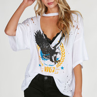 Trademark Cut Out Oversized Tee