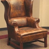 MISS POTTER'S WINGBACK LEATHER CHAIR