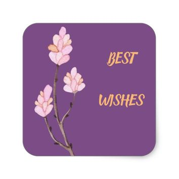 Floral Best Wishes Sticker