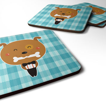 Dog in Tuxedo Foam Coaster Set of 4 BB6737FC