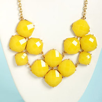 Jewel-cy Fruit Yellow Statement Necklace