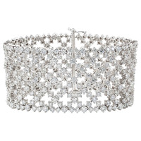 Stunning Wide Diamond Bracelet