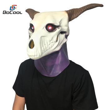 Japanese Anime The Ancient Magus Bride Elias Ainsworth Mask Realistic Skull Halloween Mask Cosplay Latex Mask Cosplay Prop