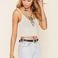 Ribbed Knit Sweater Cami