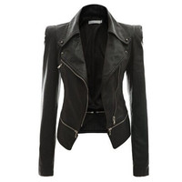 Slim Zippers Long Sleeve Girl Jacket [6369156740]