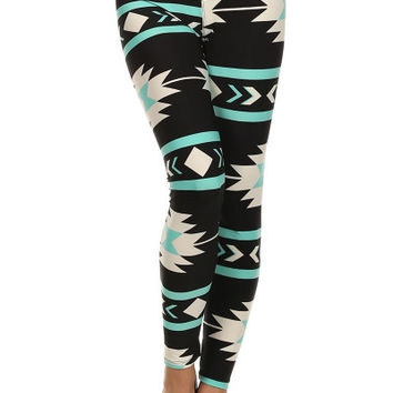 Unicorn Plus Curvy Couture Aztec Print Leggings