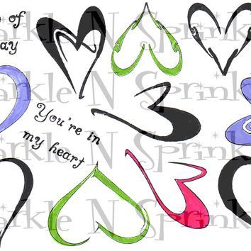 Hearts Rubber Stamp Set, 00-312P4