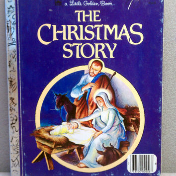 Vintage Children's Book - The Christmas Story Little Golden Book