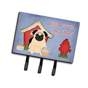 Dog House Collection Pug Fawn Leash or Key Holder BB2762TH68