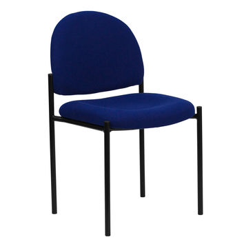 Flash Furniture Navy Fabric Comfortable Stackable Steel Side Chair [BT-515-1-NVY-GG]
