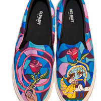 Disney Beauty and the Beast Custom Shoes