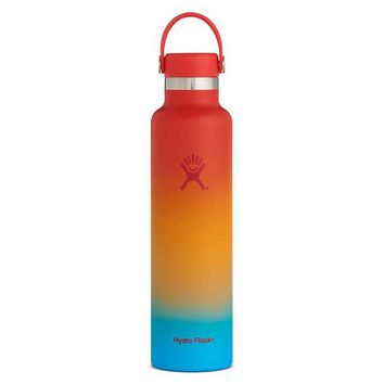 Limited Edition Hydro Flask Shaved Ice Ombre Standard Mouth 24oz - Keiki Rainbow