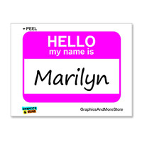 Marilyn Hello My Name Is Sticker