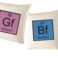 Boyfriend And Girlfriend Table Of Elements Cushion Covers