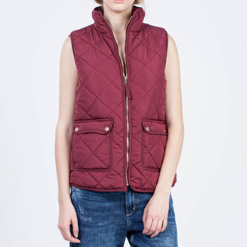 Thread and Supply Wanderer Vest in Burgundy TSJKX1040