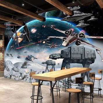Star Wars Force Episode 1 2 3 4 5 Custom 3D Photo Wallpaper Cartoon  Children Room Bedroom Wall Painting Living Room Wall Mural Wallpaper For Kids Room AT_72_6