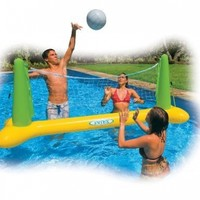"Intex Pool Volleyball Game, 94"" X 25"" X 36"", for Ages 6+, Color may vary"