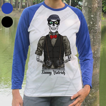 Danny Hatrick Thief Skeleton Long Sleeve T Shirt Robber Skull Baseball Shirt Hipster Cat Burglar