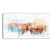 Rise and Shine Cityscape Canvas Wall Art Print