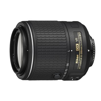 Nikon AF-S DX NIKKOR 55-200MM f/4-5.6G ED Vibration Reduction II Zoom Lens with Auto Focus for Nikon DSLR Cameras
