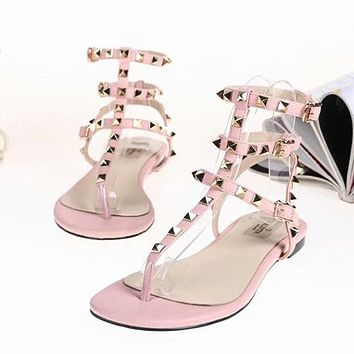 Valentino Women Fashion Ankle Strap Slipper Sandals Shoes