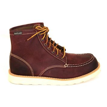 Eastland Lumber Up - Oxblood Suede Mid-Lace Moc Workman's Boot