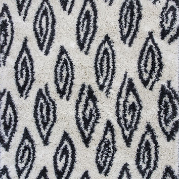 Kas Rugs Delano 1162 Ivory Charcoal Marquise Area Rug