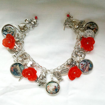 Briar Rose charm bracelet - traditional illustrations