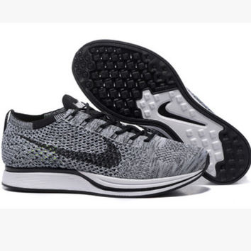"""NIKE"" Trending Fashion Casual Sports Shoes Grey black hook"