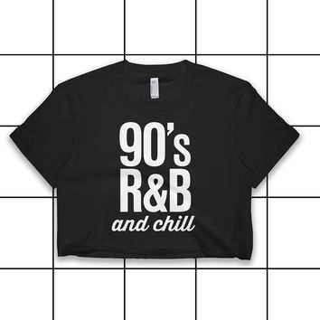 90s R&B and Chill Vintage Print Crop Top