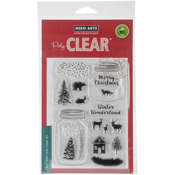 "Hero Arts Clear Stamps 4""""X6""""-Winter Scene"