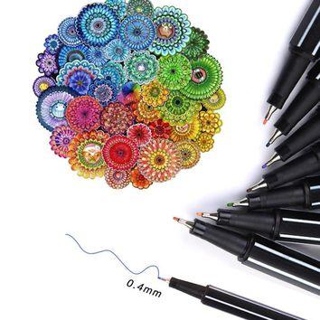2017 Fineliner Color Marker Pens 36 Assorted Colours (not Point 88) Fine Superfine For Hook Fiber Pen Material