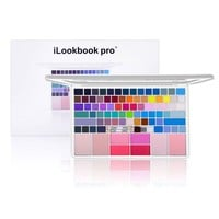 iLookBook Pro Ultra Compact HD Makeup Kit with 2 Brushes