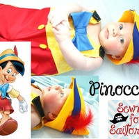 disney's Pinocchio inspired baby boys jonjon/ costume/ outfit/ clothes sizes 1,2,3,4